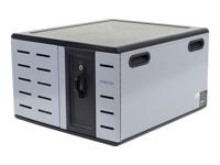 Bild von ERGOTRON Zip12 Desktop-Ladeschrank für 12 Tablet Chromebook Ultrabook MacBook o. 8 Laptop bis zu 35,6cm 14Zoll mit EU Stecker