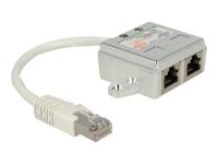 Bild von DELOCK Netzwerk Adapter RJ45 Port Doppler 1xSt->2xBu 2xISDN