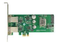 Bild von DELOCK PCI Express Karte > 2 x 1 Gigabit LAN PoE+ RJ45