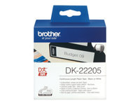 Bild von BROTHER P-Touch DK-22205 continue length Papier 62mm x 30.48m