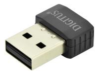 Bild von DIGITUS WLAN USB2.0 Stick Realtek RTL8811AU 1T/1R 8,5x16,4x22 mm 2.4/5 GHz Dual Band WPS bis 433 MBit schwarz