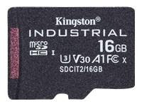 Bild von KINGSTON 16GB microSDHC Industrial C10 A1 pSLC Card Single Pack w/o Adapter