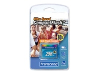 Bild von TRANSCEND CFCard 256MB Ultra 80X compactflash DMA-Modus PCMCIA Removable / IDE FD-Modus (AUTO-DETECT)