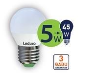 LEDURO LED spuldze G45 E27 5W 2700K 400l - Kovera Distribution