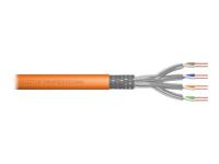 Bild von DIGITUS Duplex S-FTP PIMF Netzwerk Installationskabel Trommel CAT7 Twisted Pair 2x4x2xAWG23/1 LSZH 1200MHz orange RAL2000 500m Rolle