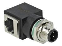 Bild von DELOCK Netzwerkadapter M12 4 Pin D-kodiert Stecker zu RJ45 Buchse