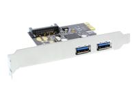 Bild von INLINE Schnittstellenkarte 2x USB 3.0 PCIe mit SATA Strom inkl. Low-Profile Slotblech