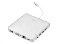 Bild von DIGITUS Universal Docking Station USB 3.1 Type C MicroSD SD/MMC VGA HDMI Alu silber