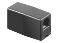 Bild von GOOBAY 10x Telefon Adapter RJ12-Buchse 6P6C auf RJ12-Buchse schwarz