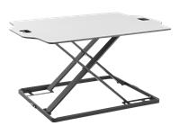 Bild von DIGITUS Ergonomischer Sitz-Steh Laptop Schreibtischaufsatz Arbeitsfläche 795x540mm Max. Bel. 10kg Maximal Einstellbare Höhe 40cm