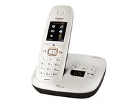 """GIGASET CL540A """"Dune"""" perlmuttweiss/braun schnurlos analog mit AB Soft-Touch TFT-Farbdisplay ergonomisch geformt Babyphone-Funktion"""
