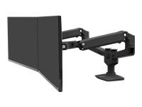 Bild von ERGOTRON LX Montagearm fuer 2 Monitore nebeneinander bis 68,6cm 27Zoll max.18kg Reichweite von bis zu 64cm Schwarz matt