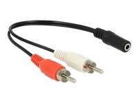 Bild von DELOCK Audio Kabel 2 x Cinchstecker zu 1 x 3,5 mm 3 Pin Klinkenbuchse 20 cm
