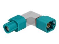 Bild von DELOCK Adapter HSD Z Buchse zu HSD Z Stecker gewinkelt