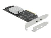 Bild von DELOCK PCI Express x8 Karte zu 2x extern SuperSpeed USB 20Gbps USB 3.2 Gen 2x2 USB Type-C Buchse Dual Channel - Low Profile