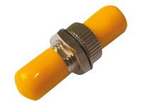Bild von DIGITUS LWL Kupplung ST/ST simplex gelbe Kappen