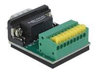 Bild von DELOCK Adapter Sub-D 9 Pin Stecker zu Terminalblock 9 Pin mit Drucktaster