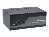 Bild von INLINE KVM Desktop Switch 2-fach Dual-Monitor DisplayPort 1.2 4K USB 3.0 Audio