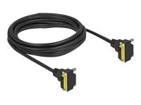 Bild von DELOCK DVI Kabel 24+1 Stecker gewinkelt zu 24+1 Stecker gewinkelt 3m