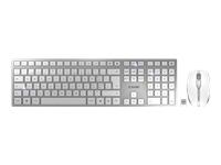 Bild von CHERRY DW 9000 SLIM - Rechargeable Wireless Desktop - Keyboard+Mouse - USB/Bluetooth - SILBER/WEISS (EU) US-Englisch mit EURO Symbol