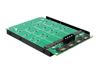 Bild von DELOCK Konverter 4x SATA 7 Pin > 4x M.2 NGFF 3.5Z SATA Power