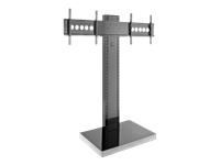 Bild von HAGOR Info-Tower Dual XL mobiles Standsystem fuer 2x 140-165cm screens Hoehe 450-1830mm max Traglast 2x 40kg VESA max 2x 600x400mm