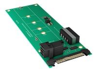 Bild von ICY BOX IB-M2B02 Konverter Platine fuer M.2 SSD zu U.2 mit 32 Gbit/s oder Mini SAS HD Host mit 12 Gbit/s