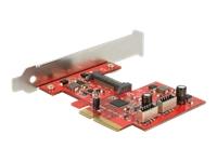 Bild von DELOCK PCI Express Karte > 2 x intern USB 3.1 Gen 2 Key A 20 Pin Buchse