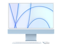 Bild von APPLE iMac 4,5K 59,62cm 23,5Zoll Apple M1 Chip 8C CPU und 7C GPU 16C N.E. 8GB 256GB SSD MM MaKey DE - Blau