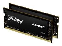 Bild von KINGSTON 32GB 2666MHz DDR4 CL15 SODIMM Kit of 2 1Gx8 FURY Impact