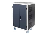 Bild von DIGITUS DN-45000 Mobiler Ladeschrank 30 Ladestationen schwarz 1100 x 700 x 600 mm inkl. USB PDU Lüfter