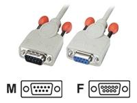 Bild von LINDY RS232 Verlängerungskabel 9 pol. Sub-D Stecker an 9 pol. Sub-D Kupplung, 1:1, 0,5m