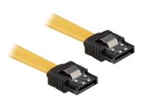 Bild von DELOCK Kabel SATA 6Gb/s 10cm gelb ge/ge Metall
