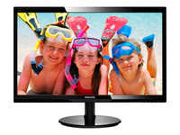 PHILIPS 246V5LHAB/00 61cm 24Zoll Wide LCD LED 16:9 5ms 1920x1080 250cd 10Mio:1 speaker digital VGA HDMI VESA schwarz