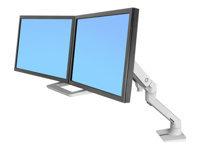 Bild von ERGOTRON HX dual Monitor Tischhalterung weiss bis 81,3cm 32Zoll 2-7,9kg pro Dislplay belastbar 29,2cm anheben VESA 75x75 100x100 mm