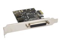 Bild von INLINE Schnittstellenkarte 1x 25-pol parallel + 2x 9-pol seriell PCIe PCI-Express Moschip MCS9901CV-CC