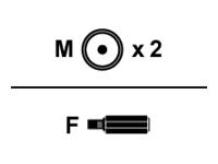 Bild von ASSMANN Audio Adapterkabel 1x3,5mm - 2X RCA Bu/St/St 0 2m sw