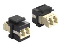 Bild von DELOCK Keystone Modul LC Duplex Buchse > LC Duplex Buchse Multimode