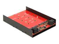 Bild von DELOCK Converter 4x SATA 7pin > 4x M.2 NGFF 3.5Z 4 Pin Power