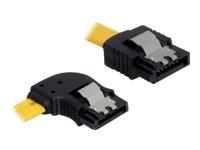 Bild von DELOCK Kabel SATA 6Gb/s 30cm gelb li/ge Metall