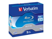 VERBATIM BD-R DUAL LAYER 50GB 6X WHITE - Kovera Distribution