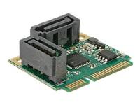 Bild von DELOCK Mini PCIe I/O PCIe half size 2 x SATA 6 Gb/s