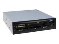 Bild von INTER-TECH Nitrox CI-01 Cardreader fuer diverse Kartenformate inkl ext. USB 3.0-Anschluss