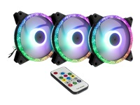 Bild von INTER-TECH Argus RS07 - RGB-Set 5V-RGB-Luefter LED addressierbar inkl. Funkfernbedienung 3x 120mm RGB-Luefter