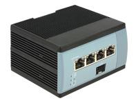 Bild von DELOCK Gigabit Ethernet Switch 4 Port + 1 SFP für Hutschiene