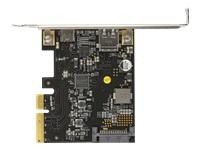 Bild von DELOCK PCI Express x4 Karte zu 1 x extern USB Type-C Buchse mit PD Funktion + 1 x extern USB Typ-A Buchse SuperSpeed USB 10 Gbps