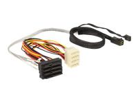 Bild von DELOCK Kabel Mini SAS HD SFF 8643 x4 Stecker > 4 x SAS 29 Pin SFF 8482 Buchse 0,5 m