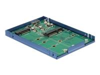 Bild von DELOCK 2,5 Zoll 6,35 cm Konverter USB 3.1 Micro-B Buchse > M.2 + mSATA mit Gehäuse 9,5 mm