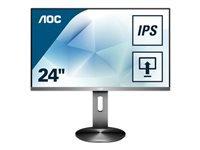 Bild von AOC I2490PXQU 60,45cm, 23.8Zoll 1920x1080 IPS 4 ms GtG HAS DP/HDMI/VGA USB HUB Speakers VESA NARROW BEZEL