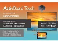 Bild von Bundle PROMETHEAN ActivBoard 10Touch 88 Dry Erase Starter Paket